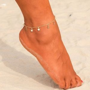 5 for $25 Dainty Trendy Star Charm Anklet
